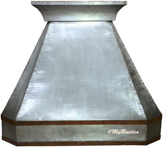 zinc kitchen hood for range