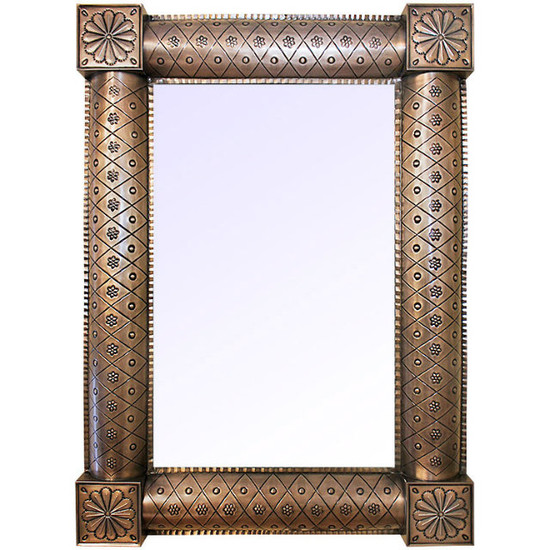handcrafted tin mirror