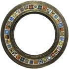 round tin mirror