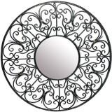round iron mirror frame
