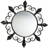 fireplace iron mirror