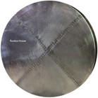 round zinc table-top hammered