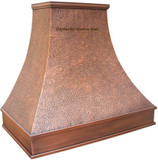 copper range hood with simple design