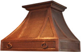 patina copper range hood
