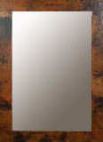 rectangular colonial copper mirror
