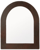 handcrafted arch copper mirror