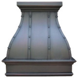 copper range Hoods wall mount with rivets