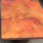 copper restaurant table-top detail view