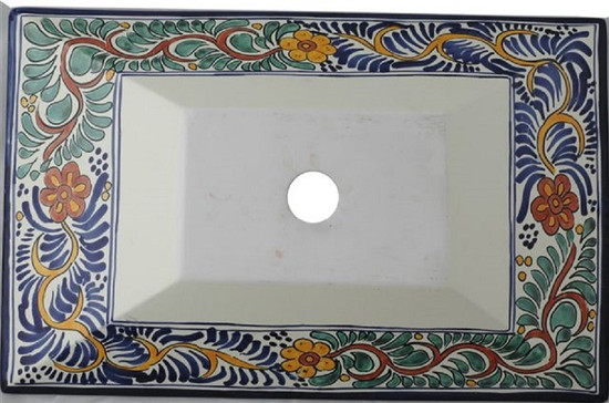 Rectangular Ceramic Vessel Sink
