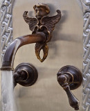 conventional bar kitchen wall bronze faucet