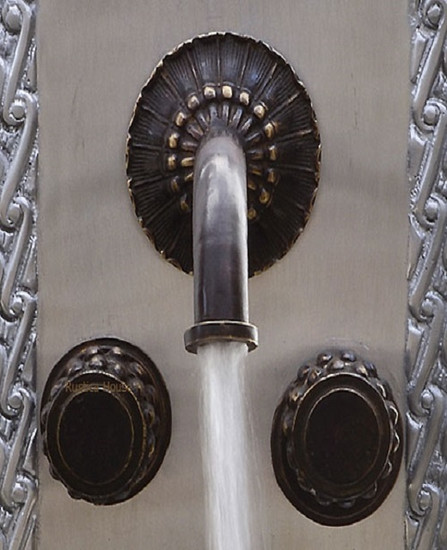 San Miguel bar kitchen wall bronze faucet