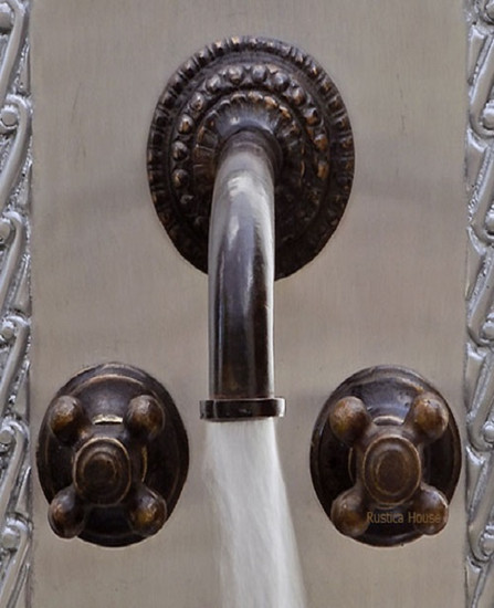 French bar kitchen wall bronze faucet