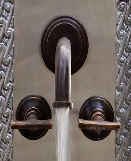 modern bar kitchen wall bronze faucet