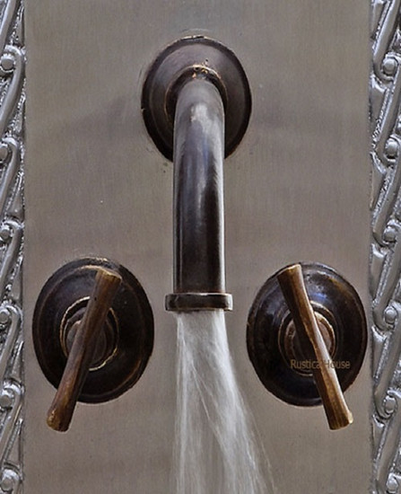 Spanish bar kitchen wall bronze faucet