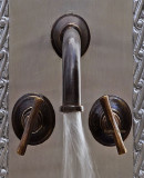 Spanish bar kitchen wall bronze faucet