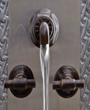 colonial hacienda bar kitchen wall bronze faucet