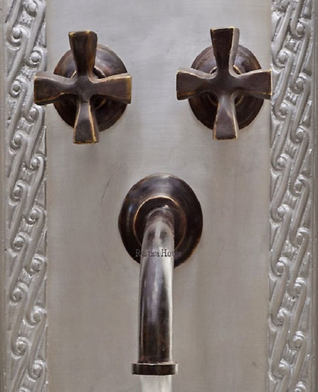 old world bar kitchen wall bronze faucet