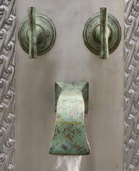 Portuguese bar kitchen wall bronze faucet