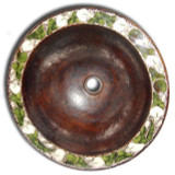 Mexican round copper bath sink