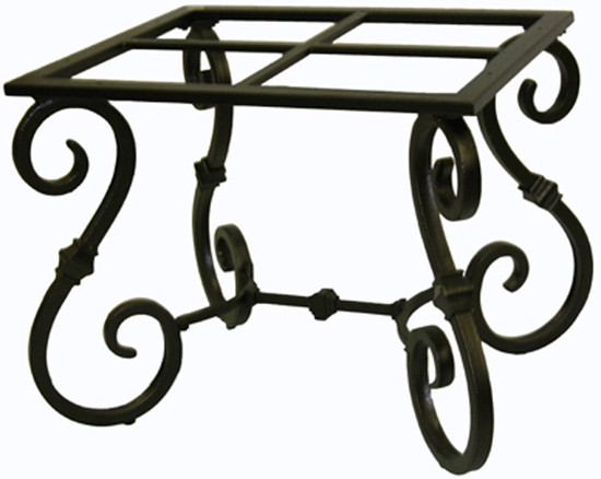 folk art forged iron table base