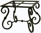 folk art forged iron table base