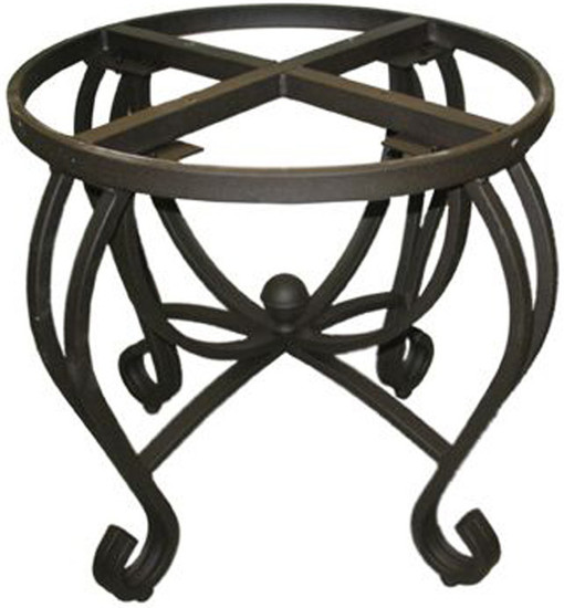 Southwestern forged iron table base