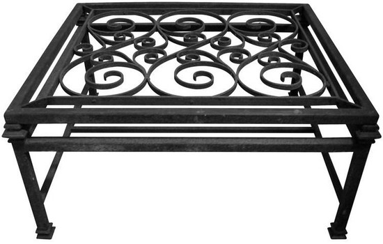 North African forged iron table base