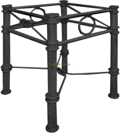 Italian forged iron table base