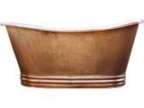 copper bathtub hand hammered