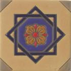 rustic relief tile cobalt