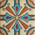 colonial relief tile blue
