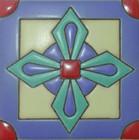 modern relief tile green