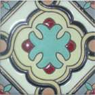 old world relief tile gray