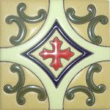 classic relief tile mexican white