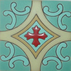 country relief tile white