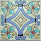 old europe relief tile blue