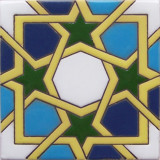 portuguese relief tile green