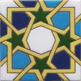 portuguese relief tile green