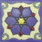 french relief tile purple