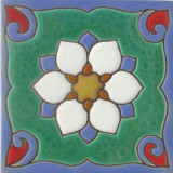 san miguel relief tile white
