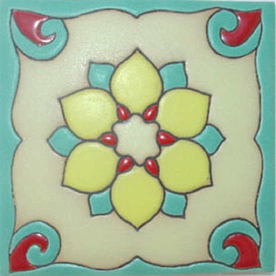 hacienda relief tile yellow