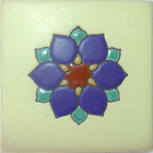 european relief tile blue