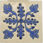 classic colonial relief tile blue