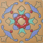 country relief tile terracotta
