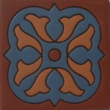 traditional relief tile blue