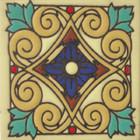 san miguel relief tile blue