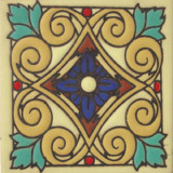 san miguel relief tile blue