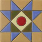 guanajuato relief tile red