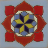 classic colonial relief tile red