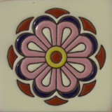classic relief tile pink